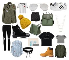 """""""Militar Look"""" by fashionponny on Polyvore featuring moda, Velvet by Graham & Spencer, WearAll, Boohoo, Rails, adidas, Giuseppe Zanotti, Timberland, ERTH y Sunny Rebel"""