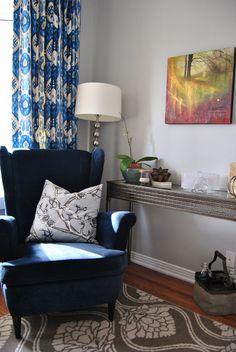 Family Room - Blue Strandmon Wingchair