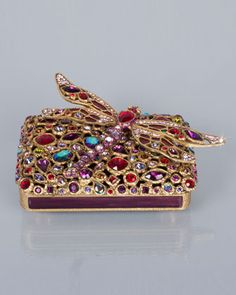 Fredrico Bejeweled Dragonfly Box by Jay Strongwater at Horchow.