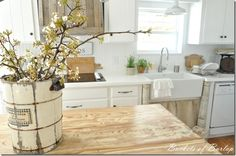 Stunning kitchen and painted white countertops