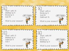 FREE! Practice those mental math skills with this 12 task card freebie!