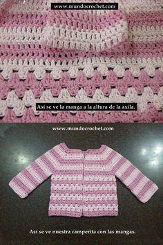 Como tejer un saco, campera, cardigan o chambrita a crochet o ganchillo desde el canesu36