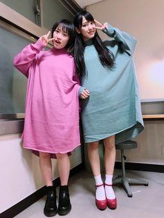 工藤遥の可愛い双子コーデ