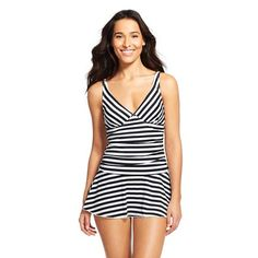 Women's Stripe Swim Dress - Cleanwater. Only S left but review says runs a size large.