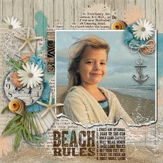 #papercraft #scrapbook #layout  Credits:By the Sea by Kimeric Kreations http://www.thedigichick.com/shop/By-the-Sea-collection.html Creations Template Vol.08 by Dawn Inskip http://shop.scrapbookgraphics.com/Creations-Templates-Vol.08.html