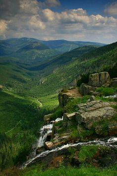 Pančavský vodopád | Krkonoše Prague, Austria, Amazing Destinations, Natural Wonders, Czech Republic, Central Europe, Waterfall, Beautiful Places, National Parks