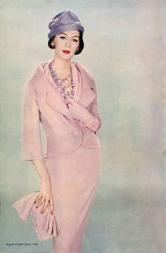 Ladies Home Journal September 1957 Dovima wearing Dior, photo by Richard Avedon