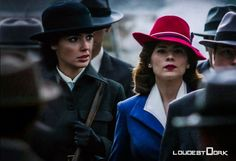 """Peggy Carter & Diana Prince   In another universe, they would be best friends. They would share stories, talked about how they both had a """"Steve"""" in their lives, and they would be kicking ass & changing the world.   loudestdork Follow  peggy carter   diana prince   wonder woman   agent carter   hayley atwell   gal gadot   dc   marvel   mine"""