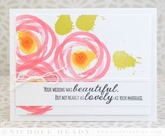 Lovely Marriage Card by Nichole Heady for Papertrey Ink (December 2014)