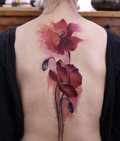 @newtattoo #罂粟 #tattoos #tattooed #tattooistartmag #tattooequilattera #thebesttattooartists #watercolortattoo #tattooartmagazine #art #beijing #ink #inkpainting @lok666 @tattrx @artfido @inkedmag #tattoos #tattooed #tatuagensfemininas
