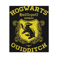 Quidditch Hufflepuff T-Shirt ($5.99) ❤ liked on Polyvore featuring tops, t-shirts and harry potter