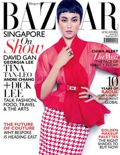 Dior Diva – Chinese top model Liu Wen covers the June issue of Harper's Bazaar Singapore looking ravishing in a spring 2012 Dior Haute Couture ensemble. Photographed by Gan, Liu wears a pixie cut and rings to go with the flashy look.