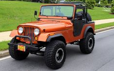 Professional, Frame off, no expense spared, restoration of the Legendary Jeep with only 9 test miles ! Rebuilt Chevy with Aluminum radiato,. Cj Jeep, Jeep Cj7, Jeep Wrangler Rubicon, Jeep Truck, Wrangler Unlimited, Jeep Wranglers, Wrangler Accessories, Jeep Accessories, Orange Jeep