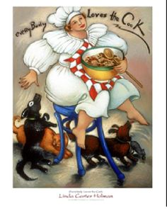 Linda Carter Holman - EverybodyLoves the Cook - Signed Giclee