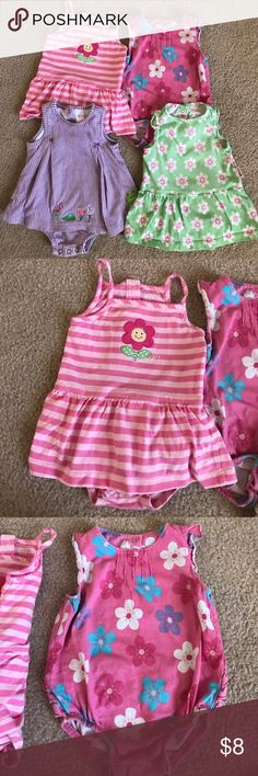 Bundle of 4 Carters Onesies Rompers 9 months Smoke-free, pet-free home Carter's One Pieces Bodysuits