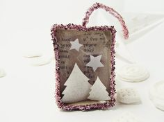 Handmade shadow box ornament The Christmas matchbox by ILaBoom
