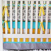 Bright Baby Gray 4 Piece Crib Bedding Set