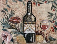 wine art mosaic