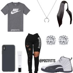 What's your favorite subject for school? —————— Rate this outfit What's your favorite subject for school? —————— Rate this outfit Nike Outfits, Swag Outfits For Girls, Cute Lazy Outfits, Cute Swag Outfits, Girls Fashion Clothes, Teenage Girl Outfits, Teen Fashion Outfits, Jeans Fashion, Outfits With Jordans