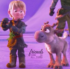 Kristoff and Sven// Frozen// Disney. Are they cute or whaat? Walt Disney, Frozen Disney, Disney Films, Disney And Dreamworks, Disney Love, Disney Magic, Disney Pixar, Disney Characters, Sven Frozen
