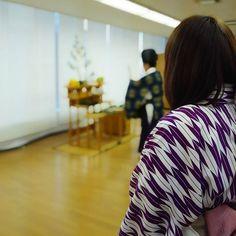 """毎年2月8日は""""針の供養祭""""を各支部で行います 針だけじゃなく、何気なく使っている道具も大切にしないとと改めて思いますね  #2月8日 #針供養 #針 #感謝 #豆腐 #矢絣 #着物 #kimono #和裁 #東亜和裁 #toawasai"""