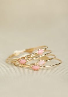 Pink Frosting Bangles | Modern Vintage Jewelry | Modern Vintage Accessories