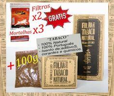 PortoPreçoJusto: Onça de Tabaco 100g + Grátis 3x Mortalhas 2x Filtr...