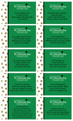A St. Patrick's Day Treasure Hunt | Free Printables