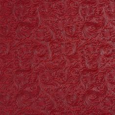 Burgundy or Red or Rust color Decorative pattern Polyurethane and Vinyl type Upholstery Fabric called AZTEC by KOVI Fabrics Leather By The Yard, Rust Color, Drapery Fabric, Leather Fabric, Fabric Swatches, Scrapbook Paper, Upholstery, Burgundy, Floral