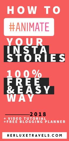 The idea of creating an animation can be totally overwhelming; especially if you have no prior design knowledge. You see all these top instagram accounts, with amazing creative instagram stories and you want that too! Not only that, you don't want to hire a designer, or spend a ton on apps. Here is how to animate your instagram stories the EASY way , completely for FREE and directly from your phone! | Herluxetravels.com