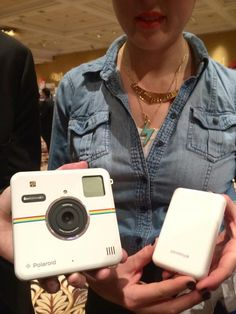The hot new Polaroid Socialmatic camera and portable printer. The printer is AMAZING!