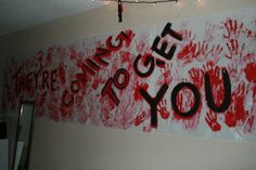 Zombie party banner