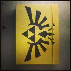 #cuaderno #papel #reciclado #amarillo #zelda #triforce #notebook