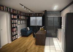 Projeto do escritório BTliê arquitetura.  Biblioteca em casa sala integrada Divider, Room, Furniture, Home Decor, Library Home, Arquitetura, Houses, Bedroom, Decoration Home