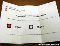 referendum, burgers moeten stemmen of ze het eens zijn met de plannen van de regering Door: Suzanne