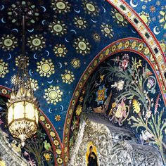 Mystical Russian Sky by Paula St James. Mosaic wall in the Church of Jesus Christ of the Spilt Blood in St. Petersburg, Russia.
