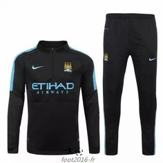 Promo Nouveau survetement equipe de foot Manchester City Noir 2015 2016  Chine shop Pantalones 1dae361443195