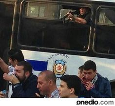 do you see the guy in the bus ?