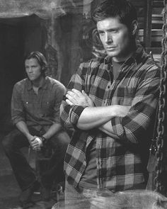 Black and White photo of Sam and Dean.