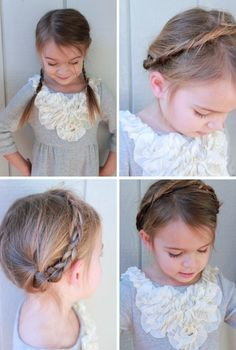 4 Simple Hairstyles for Little Girls via the Honest blog & StyleSmaller; so cute for my Jr. bridesmaid and flower girl?!