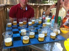 Drunk checkers this is freakin awesome! But do you want to win or lose??