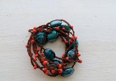 Hip to the Hippity Hop: Versatile crocheted necklace / bracelet / belt / headband on Etsy, $15.00