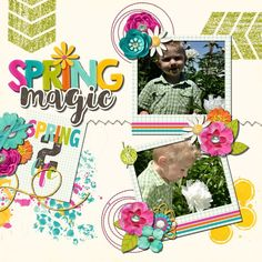 Spring Magic - Sweet Shoppe Gallery Team Page, Digital Scrapbooking, Magic, Gallery, Spring, Frame, Sweet, Creative, Design
