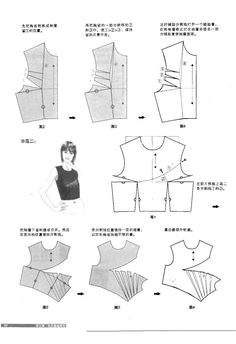 Darts on a bodice More you can see in the album https://picasaweb.google.com/100149348211394693184/ChineseMethodOfPatternMakingDartsOnABodice