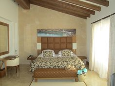 Pool Suite bedroom at the Castell Son Claret Hotel and Spa Spa, Luxury, Bedroom, Furniture, Home Decor, Decoration Home, Room Decor, Home Furniture, Interior Design