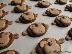 fondant monkeys for cupcakes