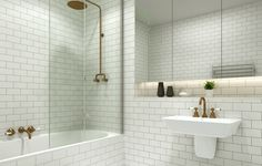 Transforming Small Bathrooms In Just 6 Easy Steps The small bathroom shower: small and beautiful Often, small bathrooms feel cramped and impractical. People assume they can't have it all. Either they get a hi… – Small Bathroom Designs With Shower Bath Shower Screens, Shower Over Bath, Small Bathroom With Shower, Bathroom Design Small, Bathroom Interior Design, Bathroom Styling, Bathroom Storage, Bathroom Lighting, Bathroom Showers