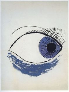 Occhio di Andy Warhol Dipinto di un occhio del 1952