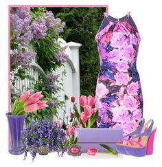 """""""lilacs & tulips"""" by concettodimoda ❤ liked on Polyvore featuring Roberto Cavalli, Lodis, Gianmarco Lorenzi, Fiesta and INC International Concepts"""