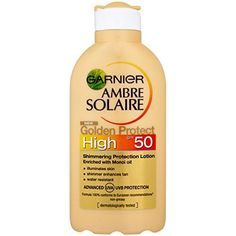 Garnier Amber Solaire Golden Protect with  SPF50 Lotion, High 200 ml Garnier http://www.amazon.co.uk/dp/B00AVUVNVY/ref=cm_sw_r_pi_dp_ITNSwb1WWF856